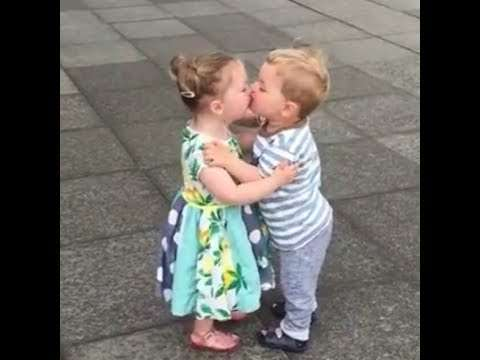 Cute little boy girl | romantic kiss | romantic whatsapp status video | love video